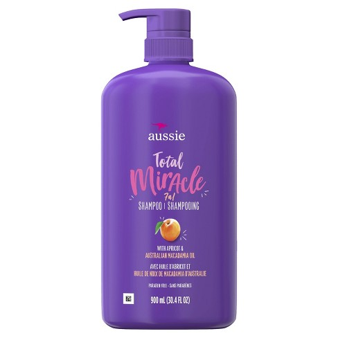 Aussie Paraben-Free Total Miracle Shampoo with Apricot & Macadamia For Damage Hair - 30.4 fl oz - image 1 of 3