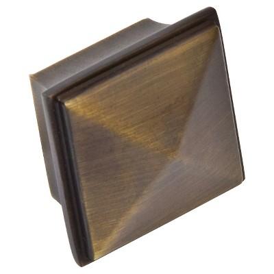 Sumner Street Home Hardware 1.25 4pc Knob Vintage Brass Pyramid