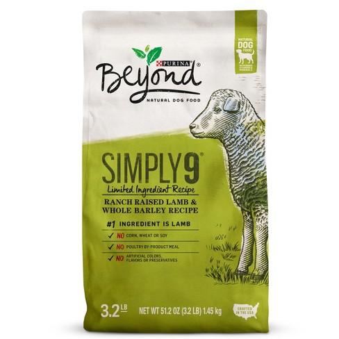 Purina Beyond Simply 9 Ranch Raised Lamb and Whole Barley Dry Dog Food - 3.2lbs - image 1 of 6