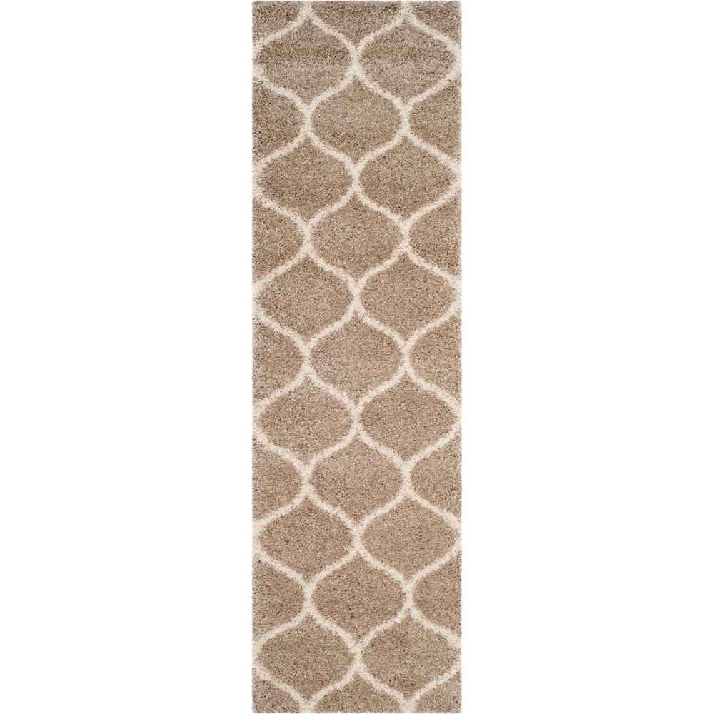 Quatrefoil Design Loomed Area Rug Beige/Ivory