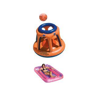 Swimline Giant Pool Basketball Shootball Toy and Pool Inflatable Suntan Float