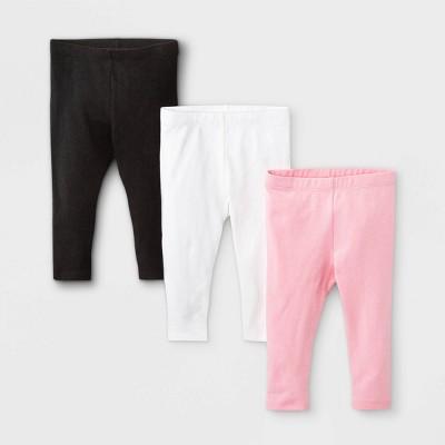 Baby Girls' 3pk Leggings - Cat & Jack™ Pink 3-6M