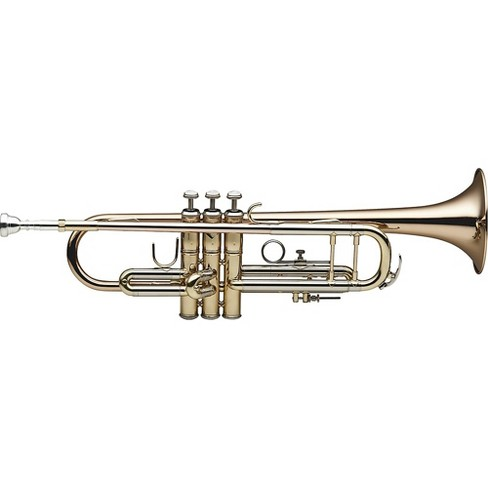 Levante LV-TR6305 Bb Professional Trumpet with Monel Valves - Gold Brass Clear Lacquer Gold Brass Bell - image 1 of 1