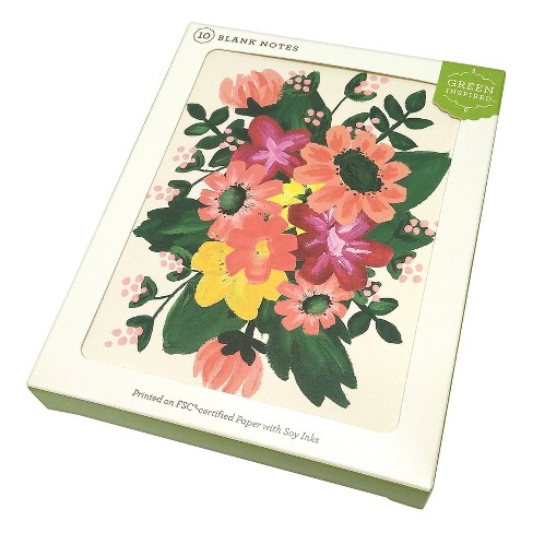 10ct Spring Flowers Blank Notes - image 1 of 2