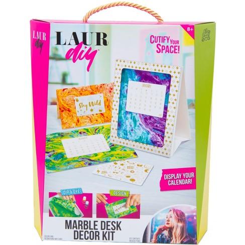 Laurdiy Marble Desk Décor Craft Kit