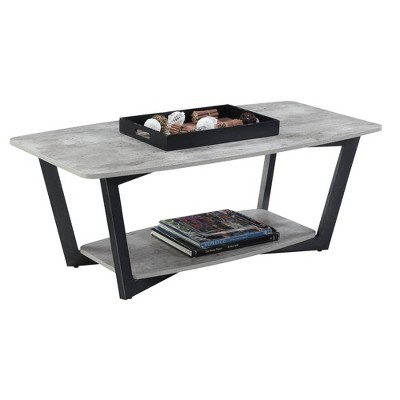 Graystone Coffee Table Faux Birch/Slate Gray - Breighton Home : Target