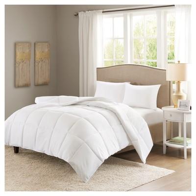 White Copper Microfiber Down Alternative Comforter Full/Queen