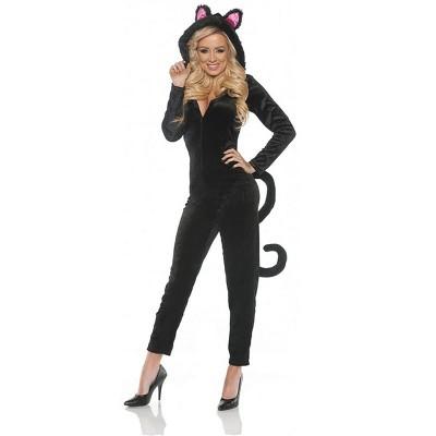 Underwraps Costumes Women's Black Cat Jumpsuit Costume