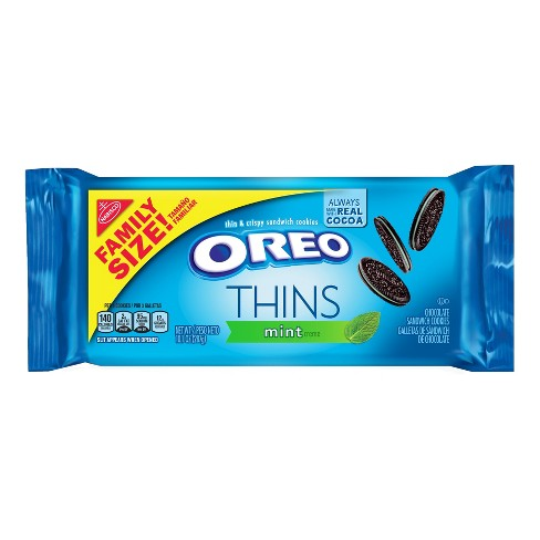 Oreo Thins Mint Crème Chocolate Sandwich Cookies - 10.1oz - image 1 of 4