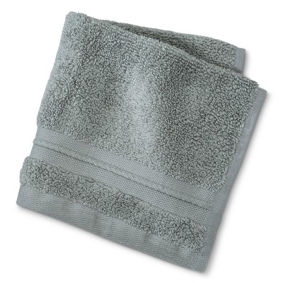 MicroCotton® Spa Solid Washcloth Gray - Fieldcrest®