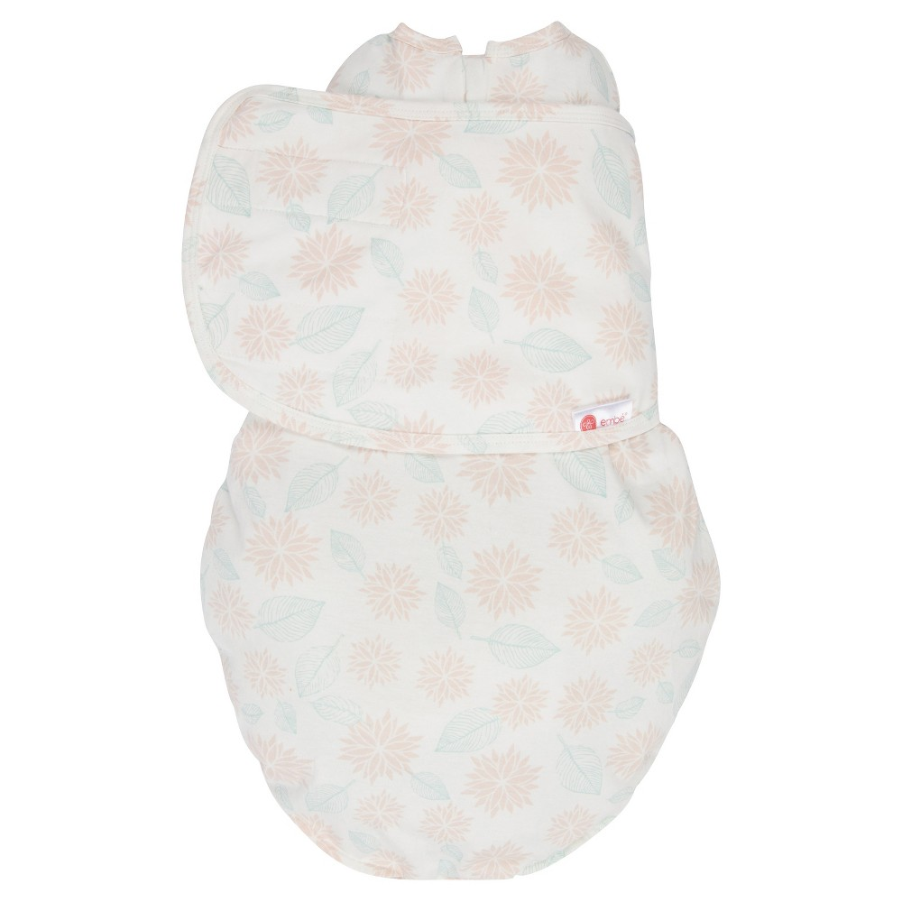 Best Embe 2 Way Swaddle Classic PinkMint Dahlias Flowers OS