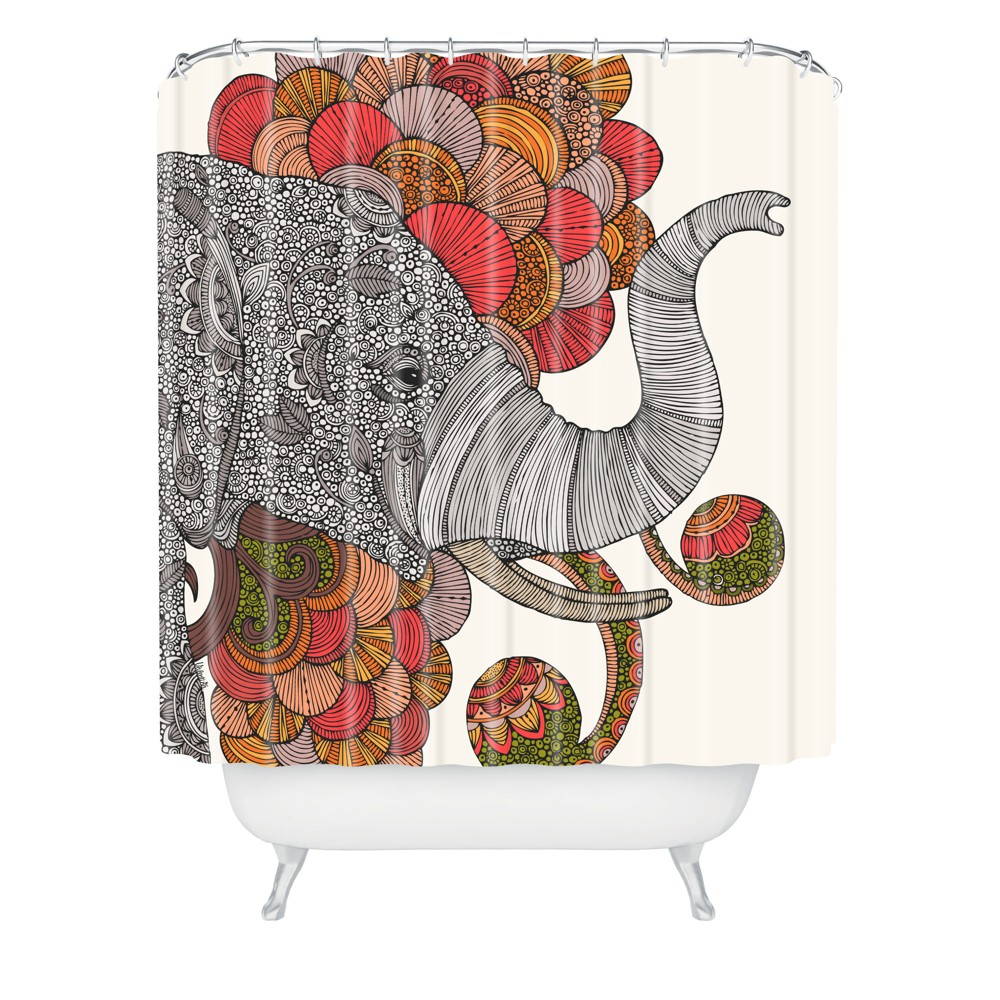 Dreams of India Shower Curtain - Deny Designs, Multi-Colored