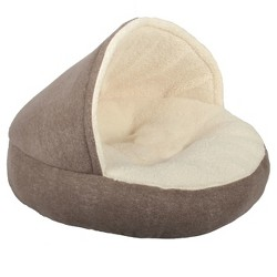 Hooded Pet Bed - Brown - Boots & Barkley™