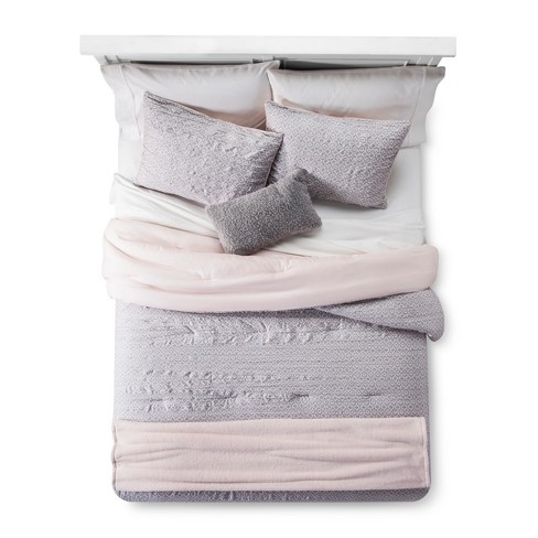 Blush Geo Lattice Comforter Set - Room Essentials™ - image 1 of 4