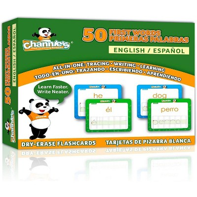 Channie's 50 First Spanish/English Dry Erase Flash Cards