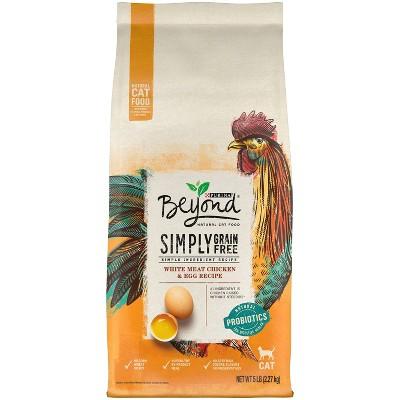Purina Beyond Simply Grain Free Probiotics White Meat Chicken & Egg Recipe Adult Premium Dry Cat Food