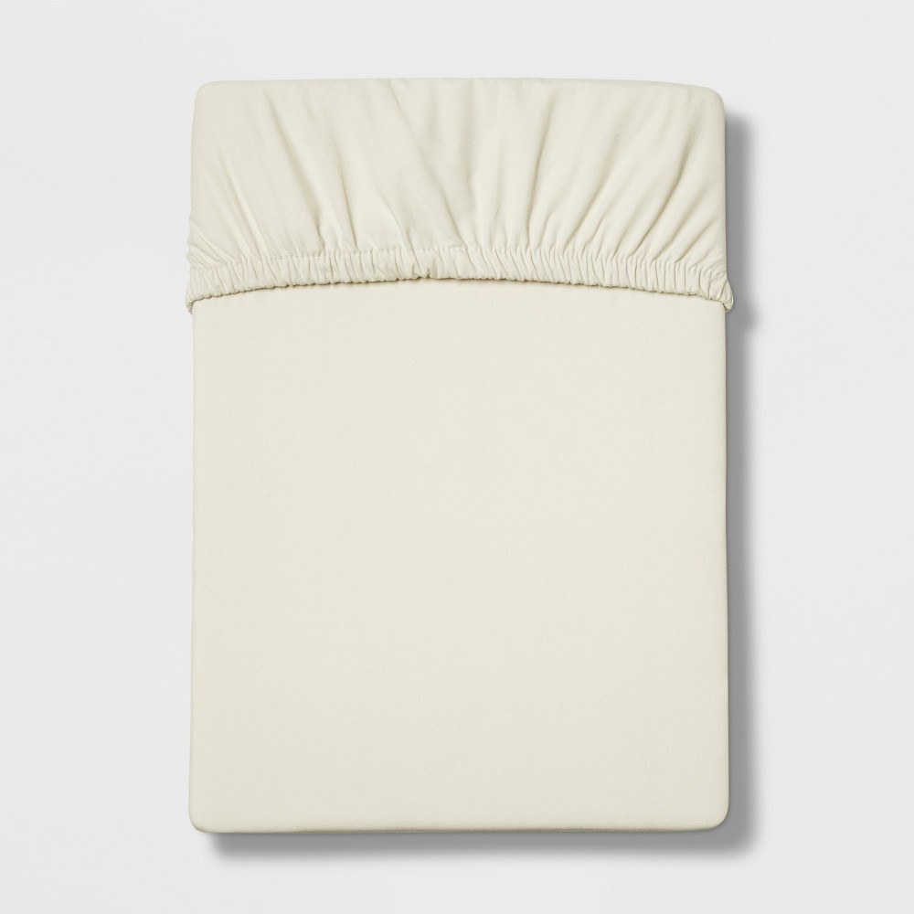 Full 300 Thread Count Ultra Soft Fitted Sheet Set Cream - Threshold was $17.99 now $12.59 (30.0% off)