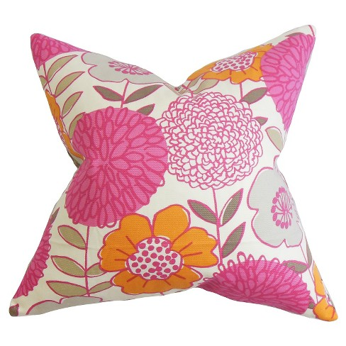 "Blossom Bold Floral Throw Pillow (18""x18"") - The Pillow Collection - image 1 of 2"