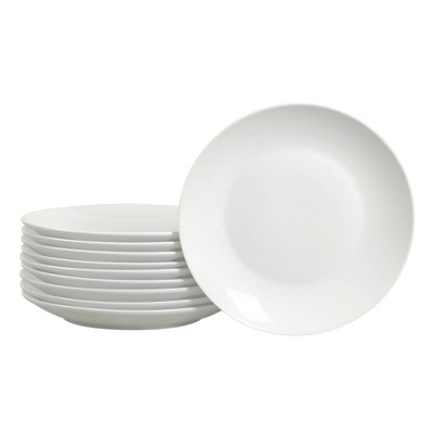 "8.3"" 10pk Porcelain Round Catering Coupe Salad Plates White - Tabletops Gallery"