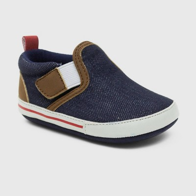 Ro+Me by Robeez Baby Boys' Denim Canvas Sneakers - Blue