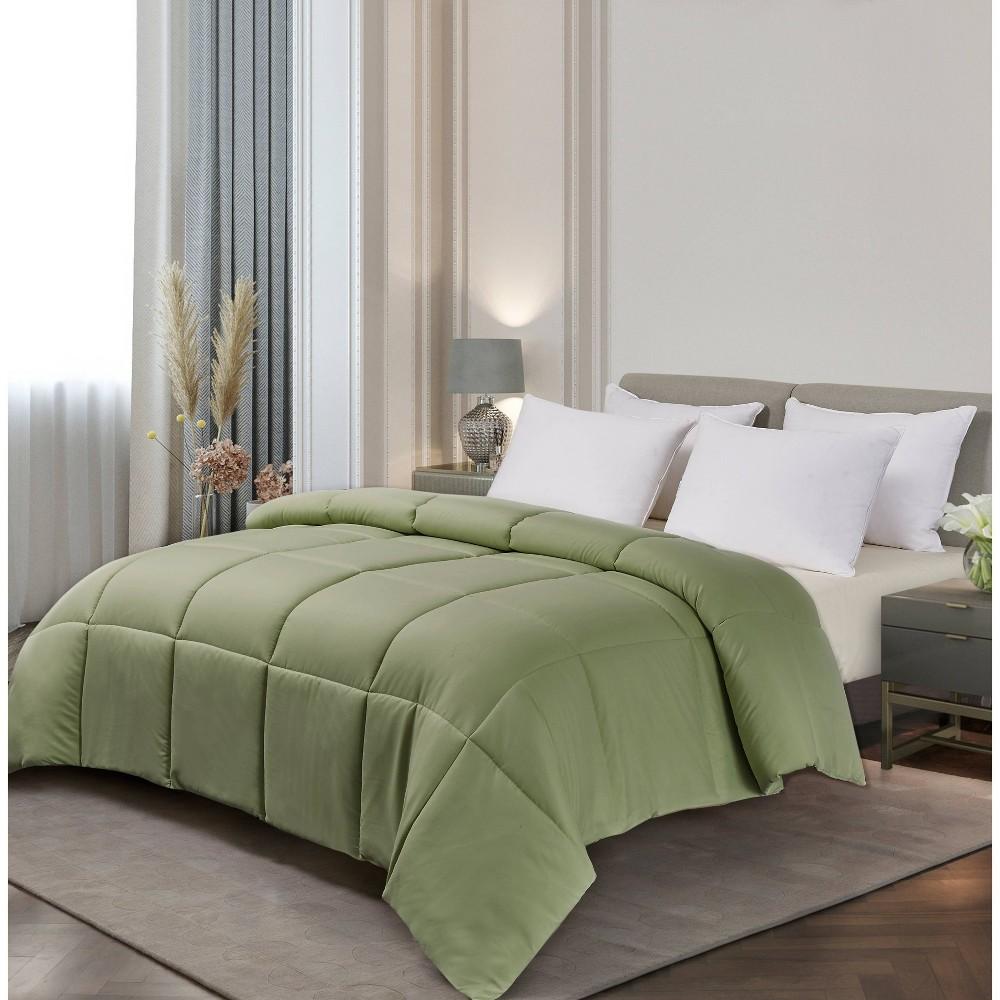 Image of Microfiber Down Alternative Comforter (King) Sage, Green