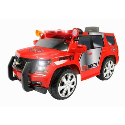 Rollplay 6V GMC Yukon Denali Fire Rescue Powered Riding Toy