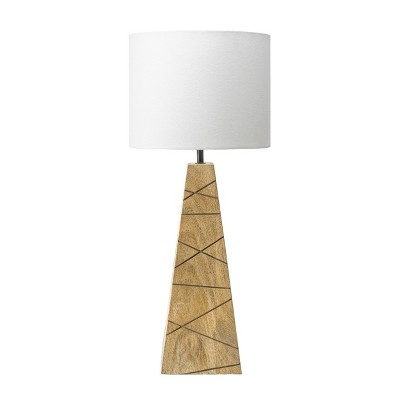 """nuLOOM Lily 24"""" Wood Table Lamp Lighting - Natural 24"""" H x 10"""" W x 10"""" D"""