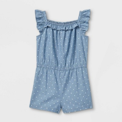 Toddler Girls' Dot Tank Romper - Just One You® made by carter's Blue