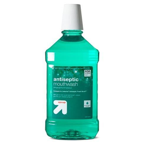 Antiseptic Mouthwash Green Mint - 50.7 fl oz - Up&Up™ (Compare to Listerine Antiseptic Fresh Burst) - image 1 of 1