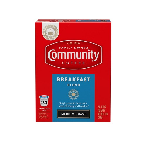 Community Coffee Breakfast Blend Medium Roast Coffee - Single Serve Pods - 24ct - image 1 of 4