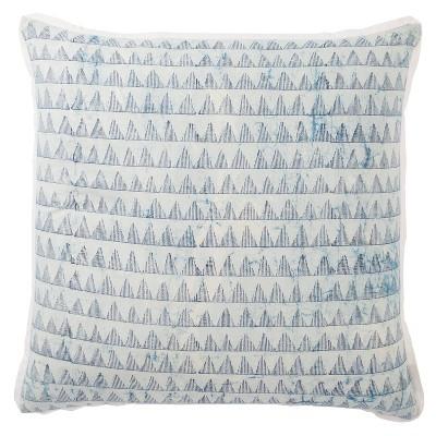 "22""x22"" Yonah Handmade Down Filled Oversized Square Throw Pillow Blue - Jaipur Living"