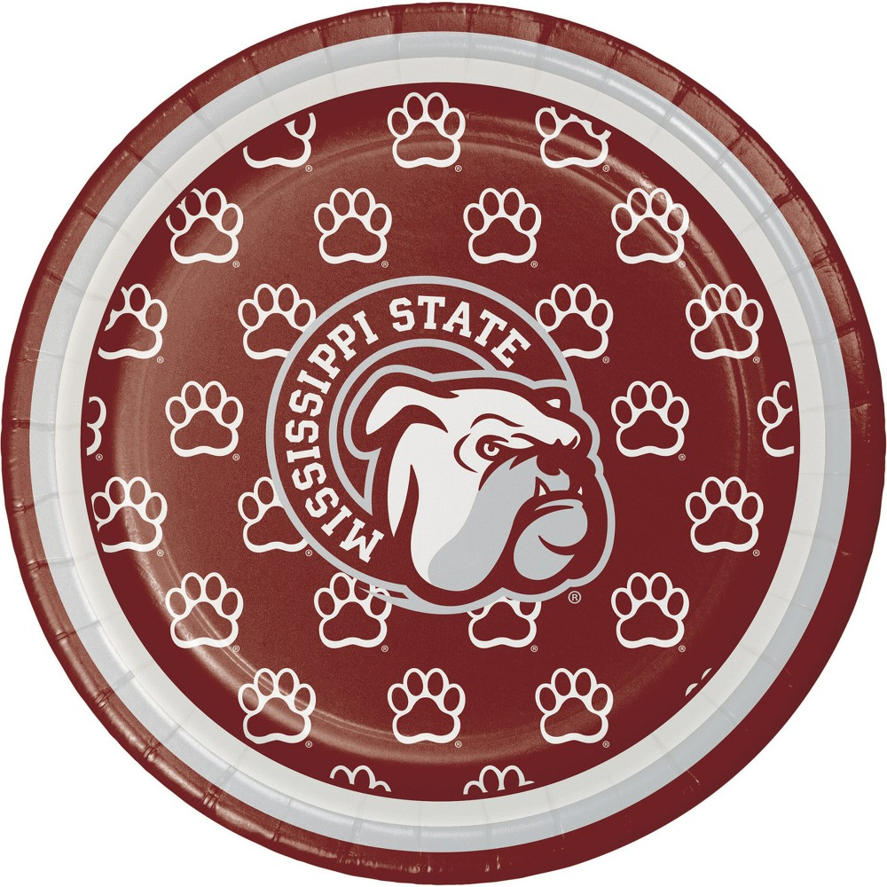Image of 24ct Mississippi State Bulldogs Dessert Plates Red