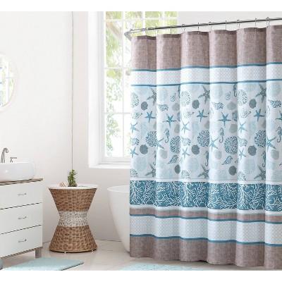 Harbor Lights Coastal Shower Curtain Blue - VCNY