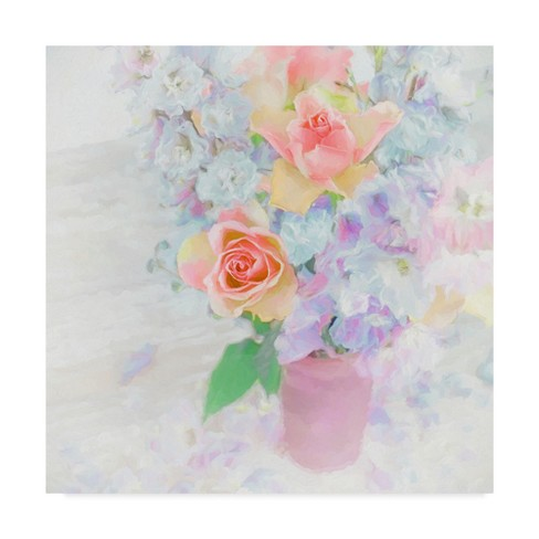 "Cora Niele Larkspur And Roses Unframed Wall 18""x18"" - Trademark Fine Art - image 1 of 3"