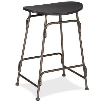 Mitchell Backless Counter Height Barstool - Black/Old Bronze - Hillsdale Furniture