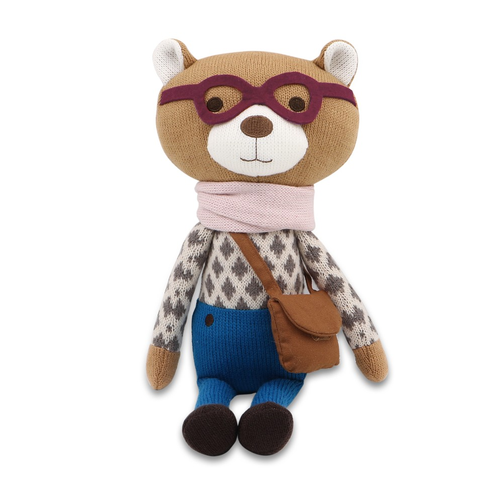 Image of Peanut Shell Charlie the Bear Knit Plush