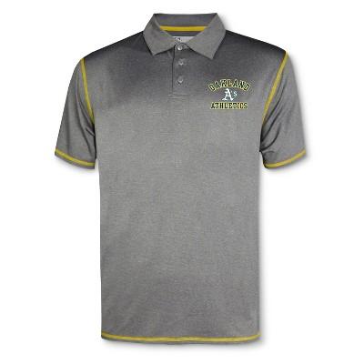 MLB Oakland Athletics Men's Your Team Gray Polo Shirt