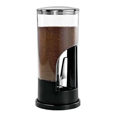 Zevro 8oz Plastic Indispensable Ground Coffee Dispenser Black