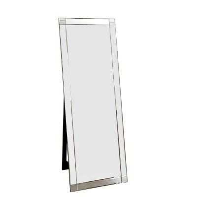 "63"" Clarice Standing Floor Mirror Silver - Abbyson Living"