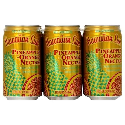 Hawaiian Sun Pineapple-Orange Nectar - 6pk/11.5 fl oz Cans