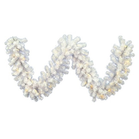 Vickerman 9' Crystal White Spruce Artificial Christmas Garland with 50 Warm White Spruce LED Lights - image 1 of 2