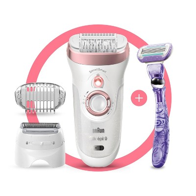 Braun Silk-epil 9 3-in-1 Women's Cordless Wet & Dry Epilator + 5 Extra Accessories 9-870