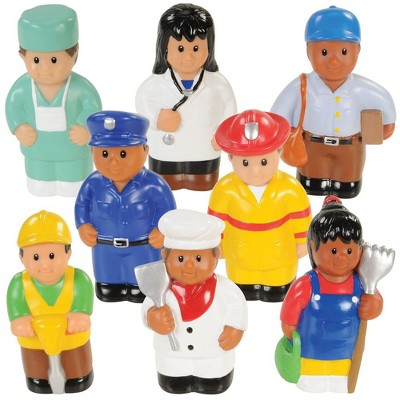 "Kaplan Early Learning Soft Plastic Community Workers 5"" Tall - Set of 8"