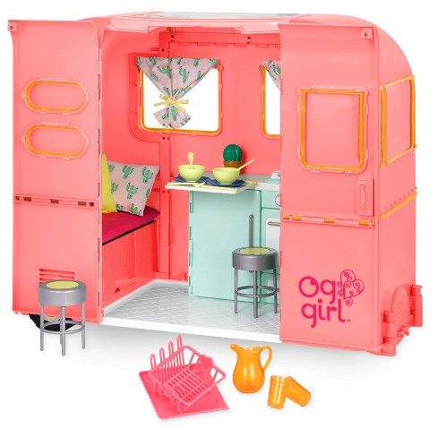 "Our Generation RV Seeing You Camper for 18"" Dolls - Pink - image 1 of 4"