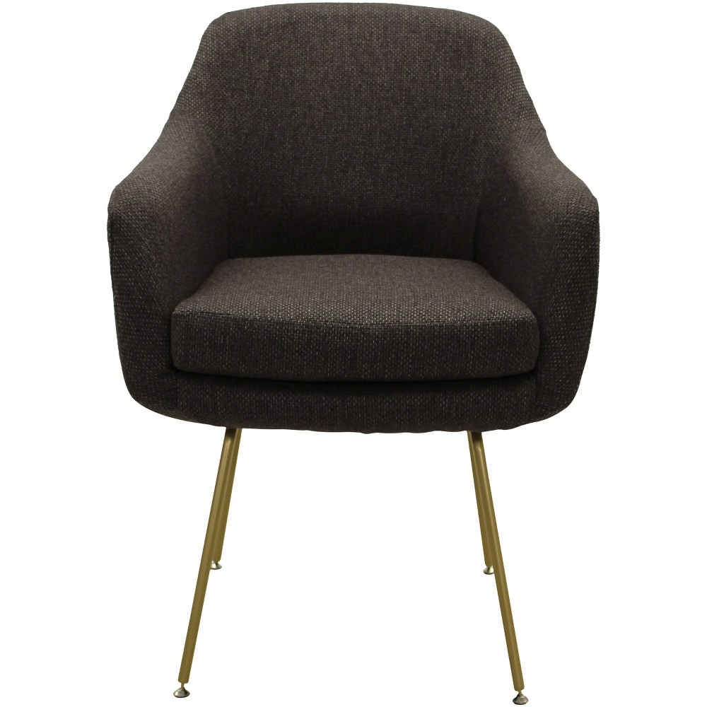 Markham Stain Resistant Dining Chair Dark Gray - Fox Hill Trading