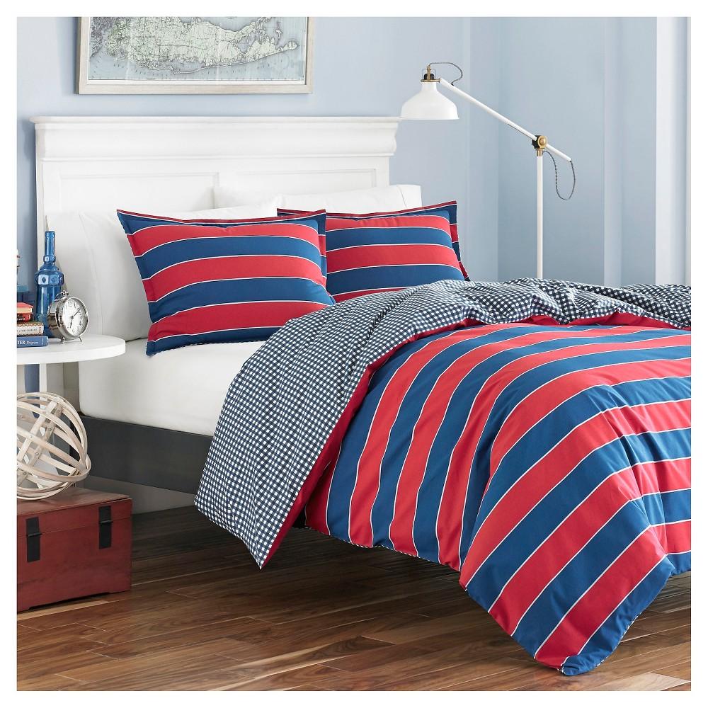 Navy Parker Comforter Set (Full/Queen) - Poppy & Fritz, Multicolored