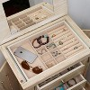 Haley Standing Jewelry Armoire Gray - Hives & Honey - image 3 of 4