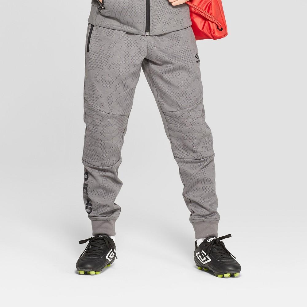 Umbro Boys' Activewear Jogger Pants - Grey XS, Gray