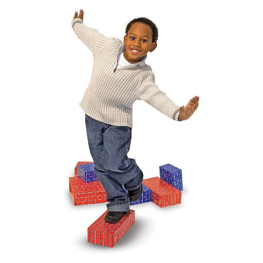 Melissa & Doug Extra-Thick Cardboard Building Blocks - 24 Blocks in 3 Sizes image number null