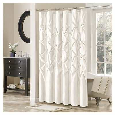 Piedmont Solid Polyester Shower Curtain - White